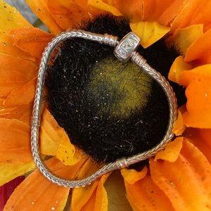 Pandora Moments Snake Chain Charm Bracelet 7 in